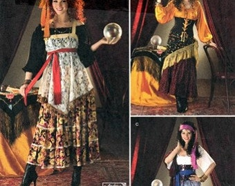 Simplicity 2331 Gypsy Fortune Teller Costume 2010 / SZ6-12 UNCUT