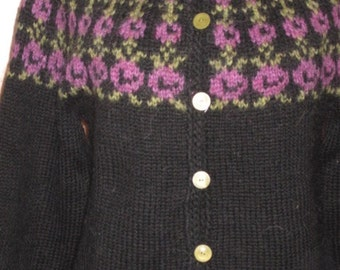 On Sale !! 50 % off.  Traditional Icelandic sweater,  Adult sweater hand knitted out of pure Icelandic lambs wool