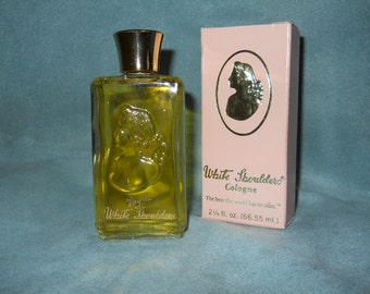 Vtg 1975 White Schoulders Cologne splash Evyan with box and full bottle 2 1/4 oz.