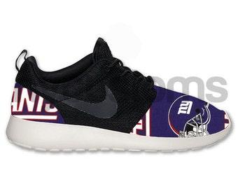 Free Shipping -- Nike Roshe Run Black Anthracite New York Football Custom Men & Women