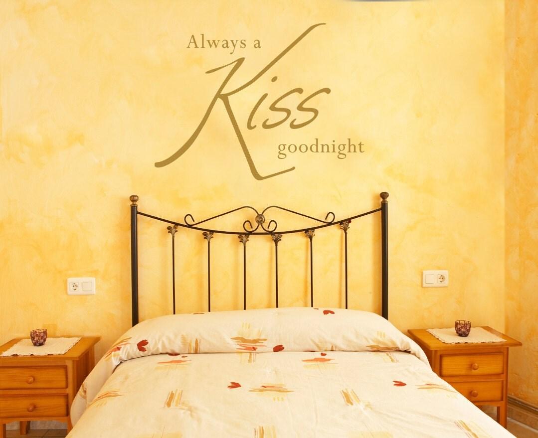 Always a kiss goodnight... Wall art quote sticker ...