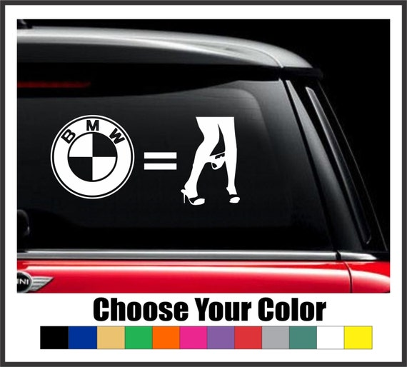 Bmwpanies: BMW Panty Dropper Vinyl Decal Sticker 4 6 8 Or 10 BMW By