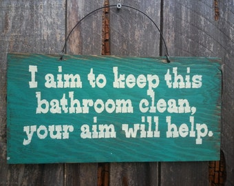 Bathroom Decor Bathroom Sign Bath Room Quote Funny Bathroom