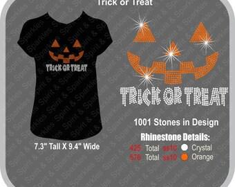 Trick or Treat Rhinestone T-Shirt, Tank or Hoodie