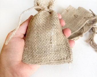 12 burlap bags - jute bags - 3x5 inches small burlap bags - wedding favors - natural burlap bag - packaging gift bag - wedding gift sack