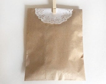 paper kraft bags - treat bag - wedding favor bags - flat paper bag - gift bags - kraft paper bags - brown paper bags - set of 40 bags