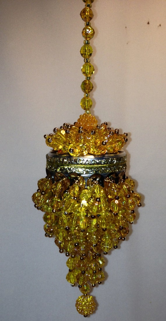 Chandelier style christmas ornament or by crazygrandmasattic for Hanging ornaments from chandelier