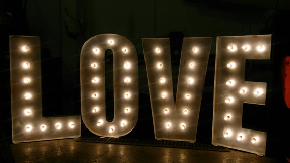 large 4ft love letter lights by bobcool on etsy With big letters with lights
