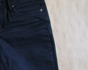 high waisted black shorts / high waisted denim shorts /  black denim