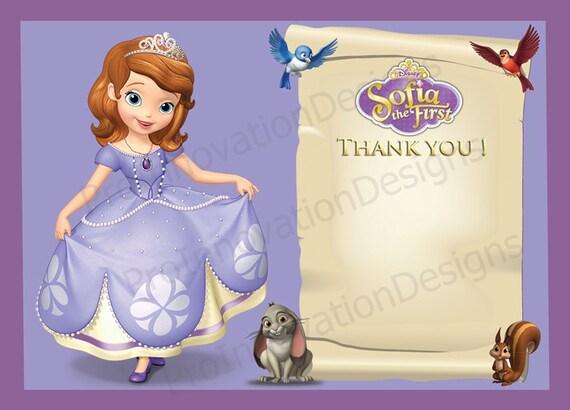Disney' Sofia The First Thank You Card. Sofia The First