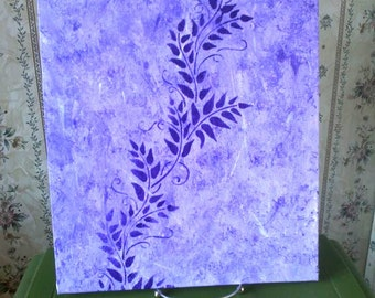 "11"" x 14"" Purple Painting"