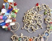 colorful necklace, wire work, wire pendant, big jewelry, wire work jewelry, wirework pendant