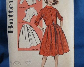 Vintage Sewing Pattern Butterick 9511 Misses Suit