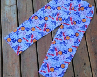 Size 8, Children's Lounge Wear, Handmade Flannel Pajama Pants