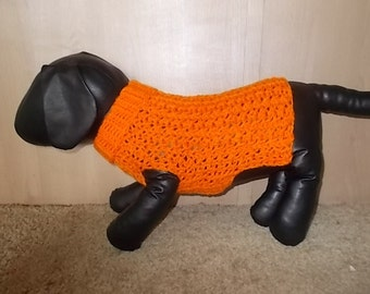 New Bright Orange Turtleneck Sweater Dog Clothing Yorkie Chihuahua Terrier Small S