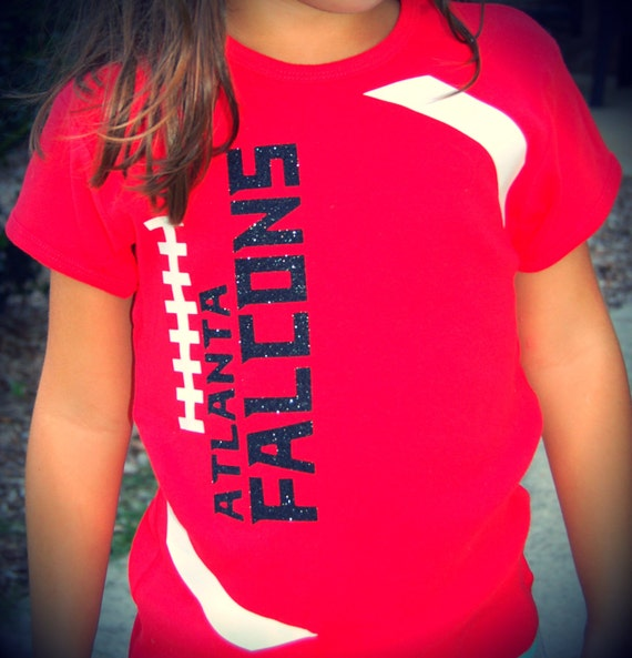Items similar to atlanta falcons girls youth football for Soccer t shirt design ideas