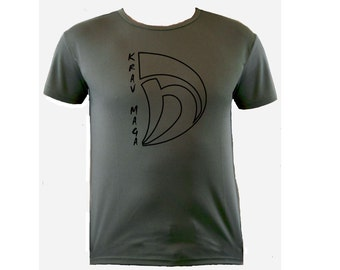 Krav maga sports moisture wicking polyester od green color t-shirt S-XL