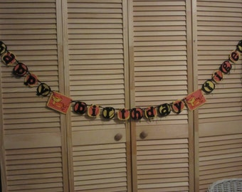 Kids Birthday Banner, Happy Birthday Tiger Banner, Tiger Banner, Birthday Party Banner, Kids Birthday
