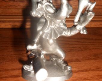 Vintage Pewter Goofey Figurine