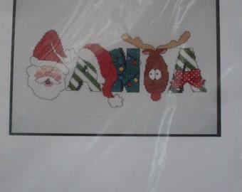Santa Counted Cross Stitch