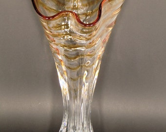 Czech Bohemian Art Glass Big Vase