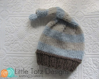 Nighty Night Stocking Cap - Knitting Pattern - Newborn