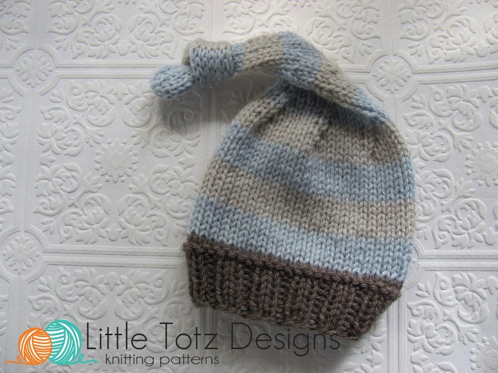 Easy Scarf Patterns To Knit : Nighty Night Stocking Cap Knitting Pattern Newborn