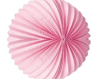 "Water Melon/Accordion Lanterns Light Pink 12"""