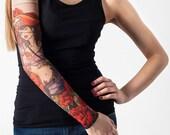 Unisex SEXY PIRATE Mesh Tattoo Sleeve, Temporary Tattoo, Fake Tattoo, Party Tattoo, Pirate Costume, Halloween Costume, Halloween Party