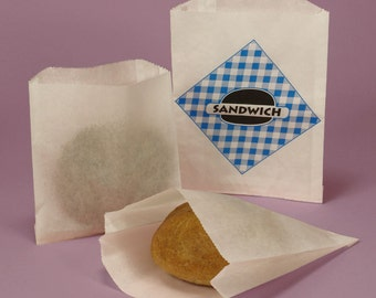 Sandwhich Bags - Party Bags - Paper Bags - Snack Bags - Favor Bags