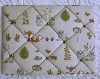Woodland Creatures Padded Notice Board/Pin Board/Memo Board Noticeboard