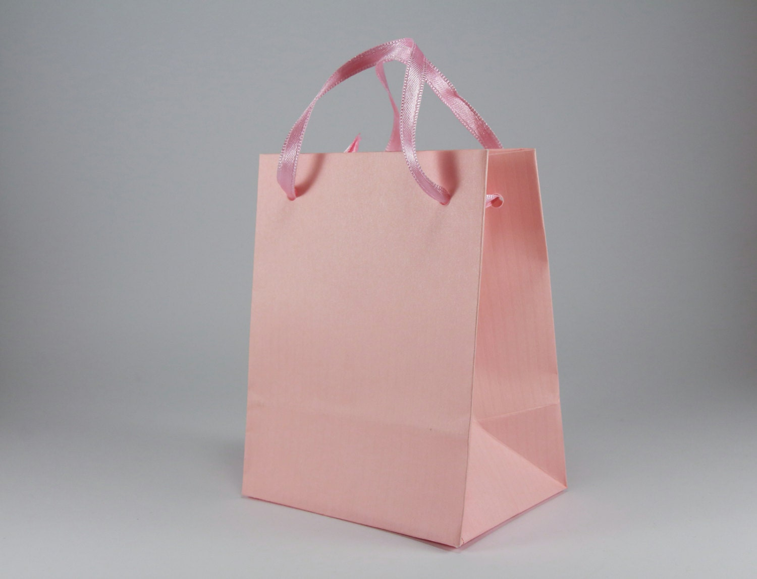10 pink baby shower favor bags with handles extra small pink