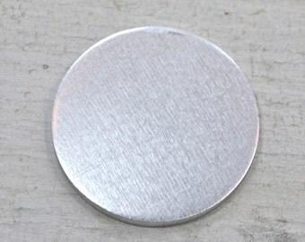 Ten 1 1/4 inch Aluminum Discs, 14 Gauge Stamping Blanks