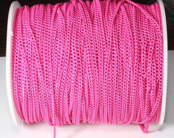 5 Meters Fuschia Curb Chains (0,5mm) & Colored Chain