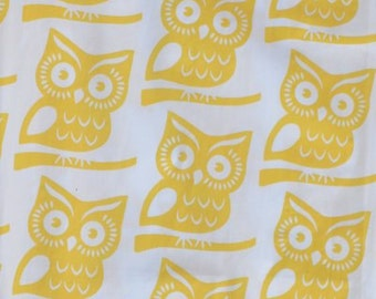 Yellow Owl Fabric by the Yard