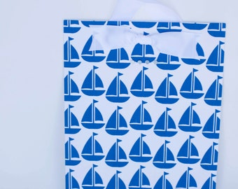 Blue Sailboat Fabric Magnet Board