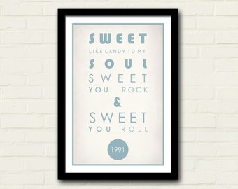 Dave Mathews Band Lyrics Poster 11 X 17 Art Print, Crash Lyrics Print, Dave Mathews, Home Decor