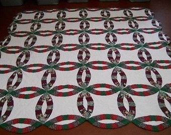 Vintage Double Wedding Ring Quilt