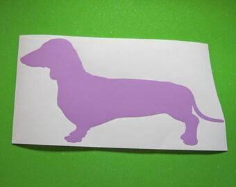 Wiener dog vinyl sticker decal