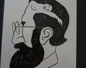 Rare Vintage Sigmund Freud What's on a Man's Mind Postcard~Illusion of a Woman