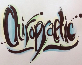 Chiropractic art. Unique and Vibrant. Customizable