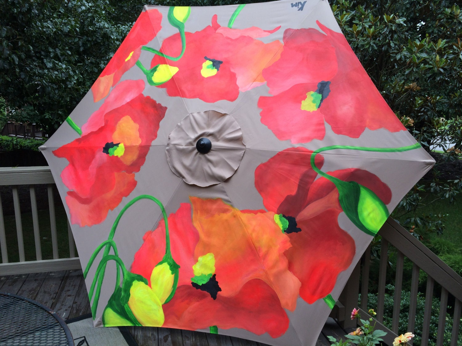 unique painted patio umbrellas original by