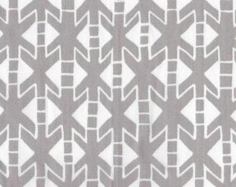 Heritage (Light Grey) on Organic Cotton Fleece Fabric-HALF YARD
