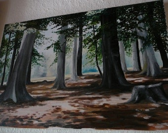 Forest landscape in midday light