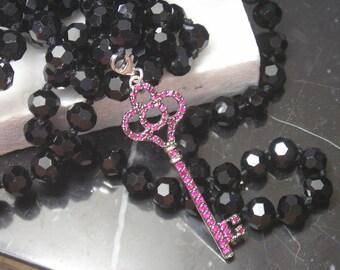 Necklace Pearls Gold Collier Key Love Tiffany TOM K Ruby Amethyst Rosequarz Luxury