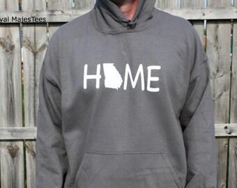 Georgia Home Hoodie, Sweatshirt, State, Home, Georgia shirt