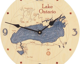 "Lake Ontario  12"" Clock"