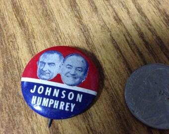 1964 LBJ HHH Presidential Campaign Button
