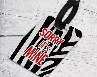 It's Mine Sublimated Felt Luggage Tag