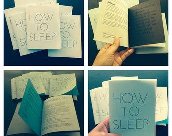How To Sleep (zine)